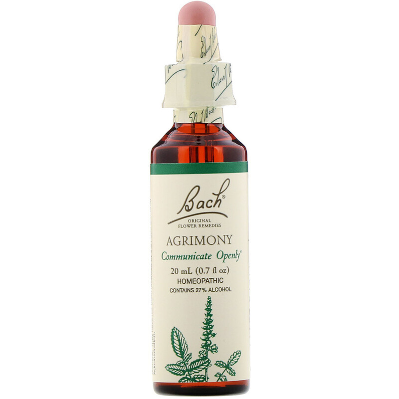 Bach, Original Flower Remedies, Agrimony, 0.7 fl oz (20 ml)