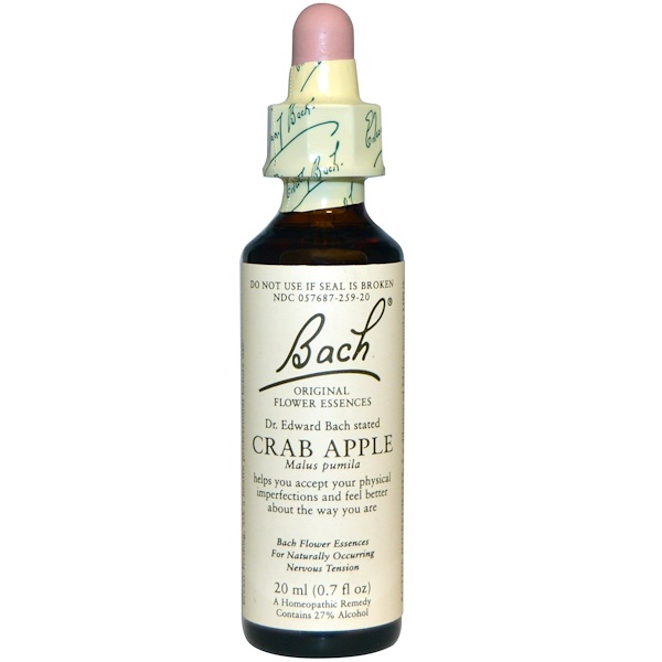 Bach, Original Flower Essences, Crab Apple, 0.7 fl oz (20 ml)