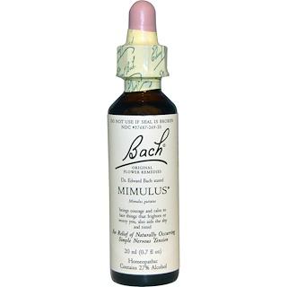 Bach, Original Flower Remedies, Mimulus, 0.7 fl oz (20 ml)