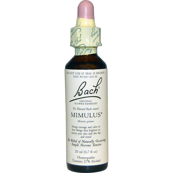 Bach, Original Flower Remedies, Mimulus, 0.7 fl oz (20 ml)