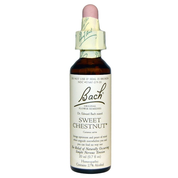 Bach, Original Flower Remedies, Sweet Chestnut, 0.7 fl oz (20 ml) (Discontinued Item)