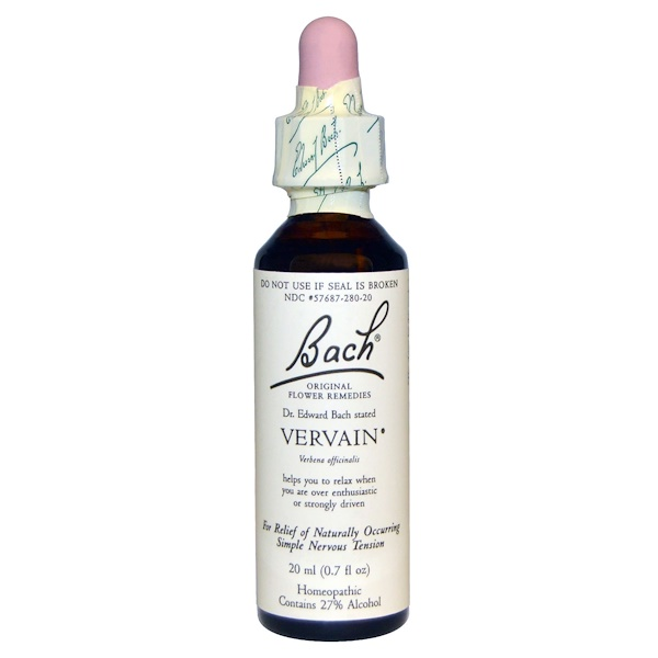 Bach, Vervain, 0.7 fl oz (20 ml) (Discontinued Item)