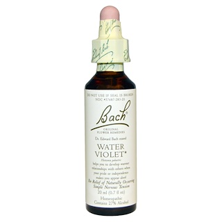 Bach, Original Flower Remedies, Water Violet, 0.7 fl oz (20 ml)