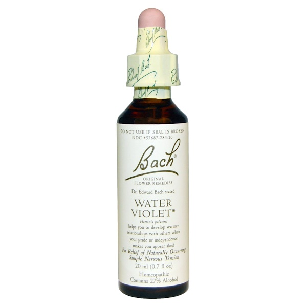 Bach, Original Flower Remedies, Water Violet, 0.7 fl oz (20 ml)