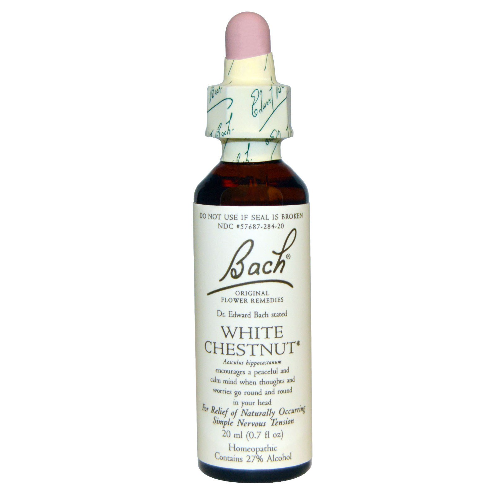Bach Original Flower Remedies White Chestnut 07 Fl Oz 20 Ml