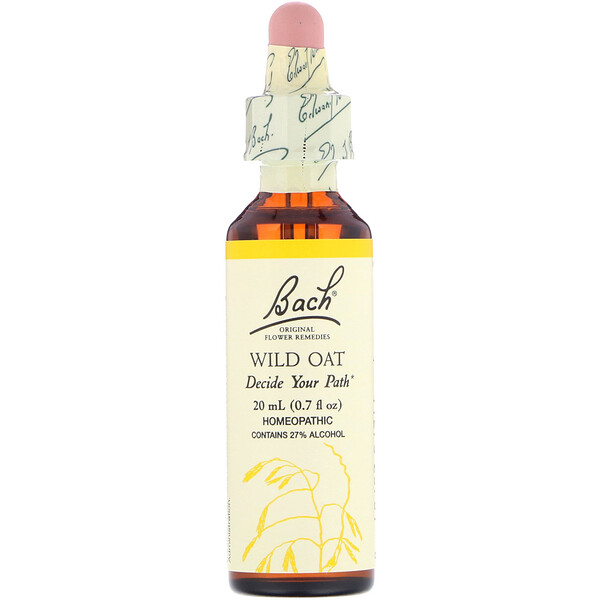 Bach, Original Flower Remedies, Wild Oat, 0.7 fl oz (20 ml)