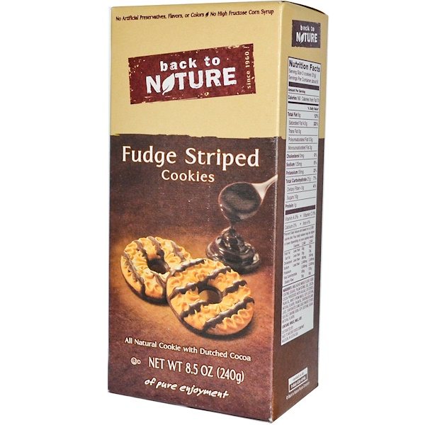 Back to Nature, Fudge Striped Cookies, 8.5 oz (240 g) (Discontinued Item)