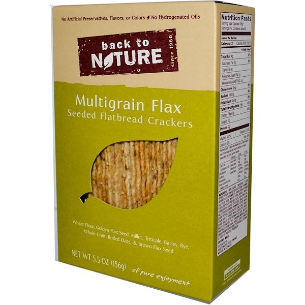 Back to Nature, Multigrain Лен , отобранный лепешка Крекер 5.5 унции (156 г) (Discontinued Item)
