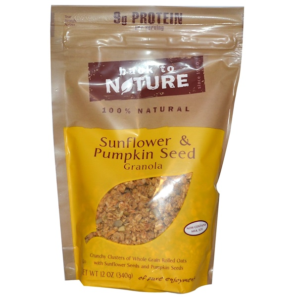 Back to Nature, Sunflower & Pumpkin Seed Granola, 12 oz (340 g) (Discontinued Item)