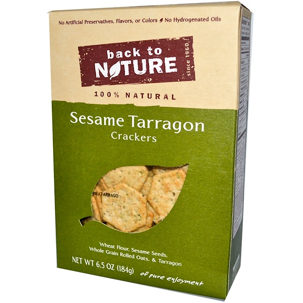 Back to Nature, Sesame Tarragon Crackers, 6.5 oz (184 g) (Discontinued Item)