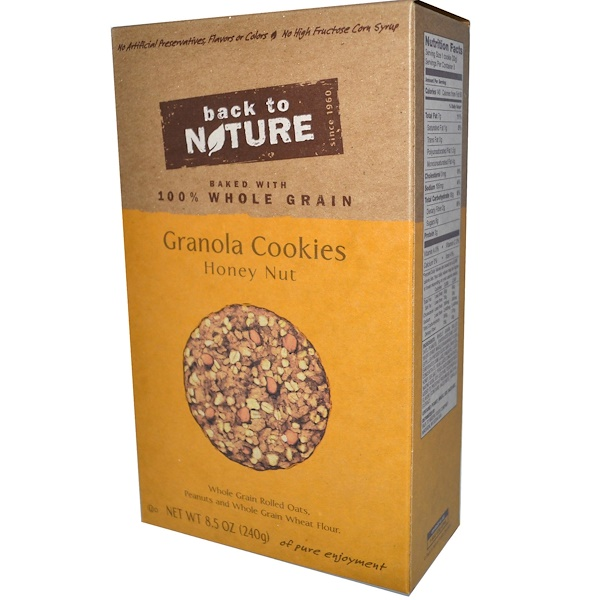 Back to Nature, Granola Cookies, Honey Nut, 8.5 oz (240 g) (Discontinued Item)