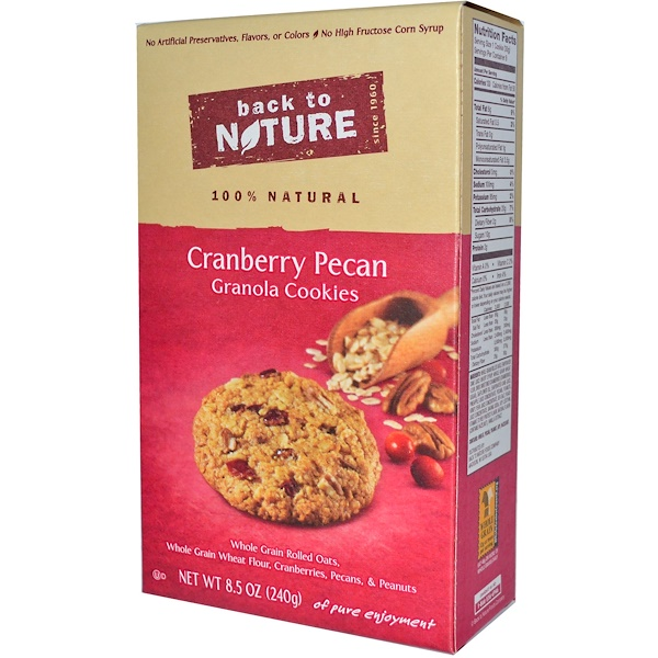 Back to Nature, Cranberry Pecan Granola Cookies, 8.5 oz (240 g) (Discontinued Item)