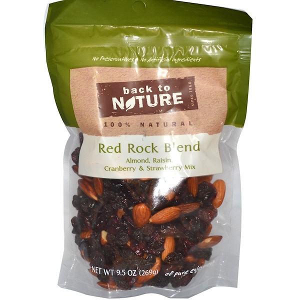 Back to Nature, Red Rock Blend, Almond, Raisin, Cranberry & Strawberry Mix, 9.5 oz (269 g) (Discontinued Item)