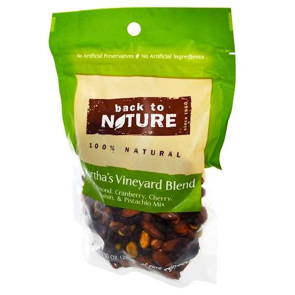 Back to Nature, Martha's Vineyard Blend, Almond, Cranberry, Cherry, Raisin & Pistachio Mix, 10 oz (283 g) (Discontinued Item)