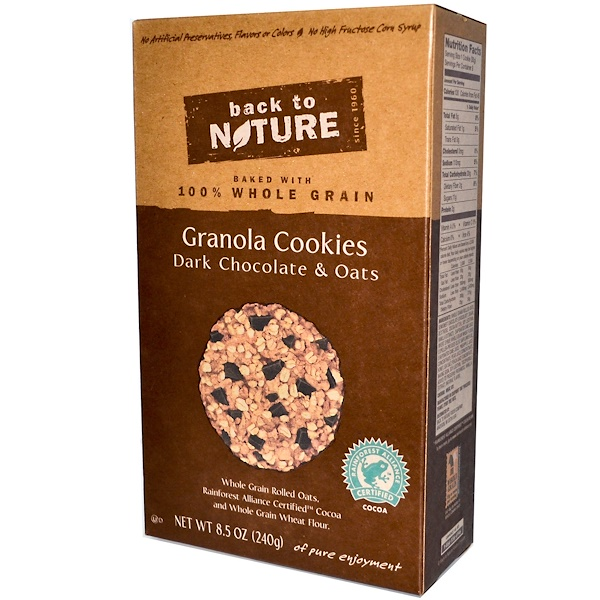 Back to Nature, Granola Cookies, Dark Chocolate & Oats, 8.5 oz (240 g) (Discontinued Item)