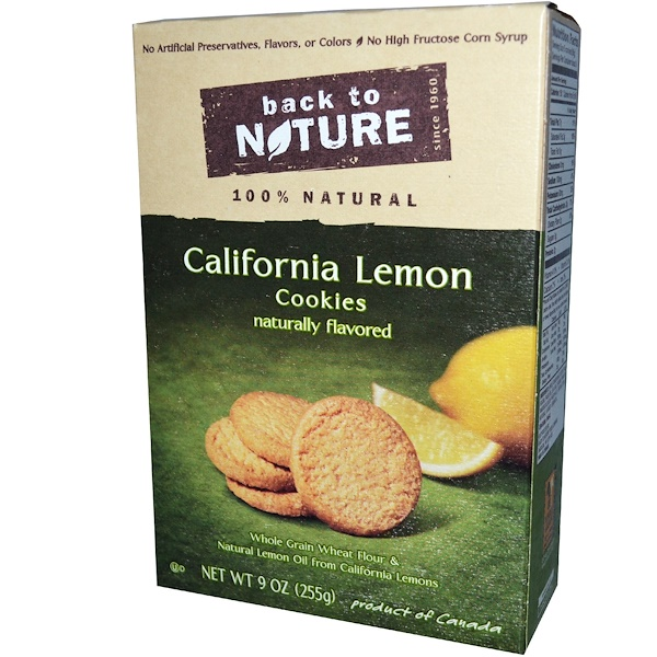 Back to Nature, California Lemon Cookies, 9 oz (255 g)  (Discontinued Item)