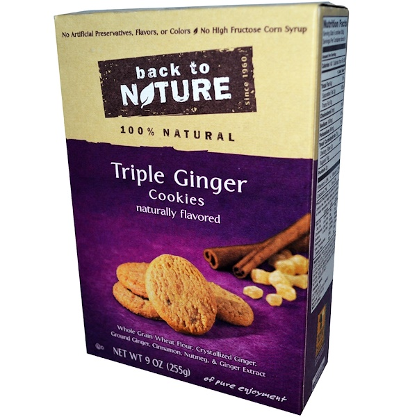 Back to Nature, Triple Ginger Cookies, 9 oz (225 g) (Discontinued Item)