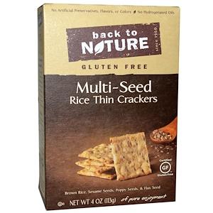 Бэк Ту Найчэ, Rice Thin Crackers, Gluten Free, Multi-Seed, 4 oz (113 g) отзывы