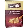 Back to Nature, Rice Thin Crackers, Gluten Free, Sesame Seed, 4 oz (113 g)