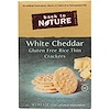Back to Nature, Rice Thin Crackers, Gluten Free, White Cheddar, 4 oz (113 g)