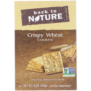 Бэк Ту Найчэ, Crackers, Crispy Wheat, 8 oz (226 g) отзывы покупателей