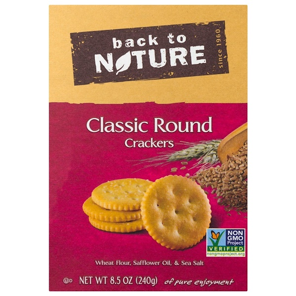 Back to Nature, Crackers, Classic Round, 8.5 oz (240 g)
