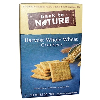 Back to Nature, Crackers, Harvest Whole Wheat, 8.5 oz (240 g)