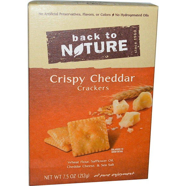 Back to Nature, Crackers, Crispy Cheddar, 7.5 oz (212 g) (Discontinued Item)