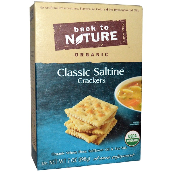 Back to Nature, Crackers, Organic Classic Saltine, 7 oz (198 g)