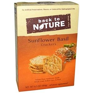 Бэк Ту Найчэ, Crackers, Sunflower Basil, 6.5 oz (184 g) отзывы