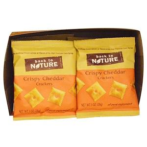 Бэк Ту Найчэ, Crackers, Crispy Cheddar, 8 Pouches, 1 oz (28 g) Each отзывы покупателей