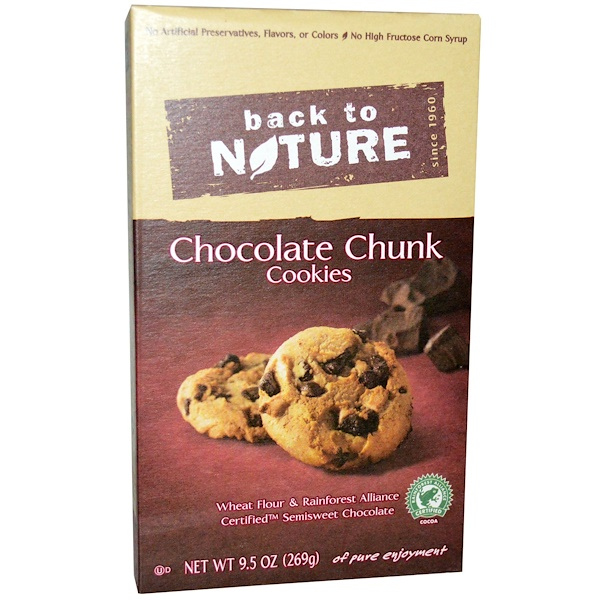Back to Nature, Cookies, Chocolate Chunk, 9、5 oz (269 g)