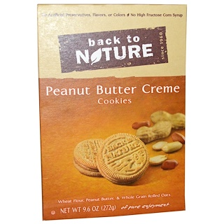 Back to Nature, ピーナッツバタークリームクッキー、9.6 oz (272 g)