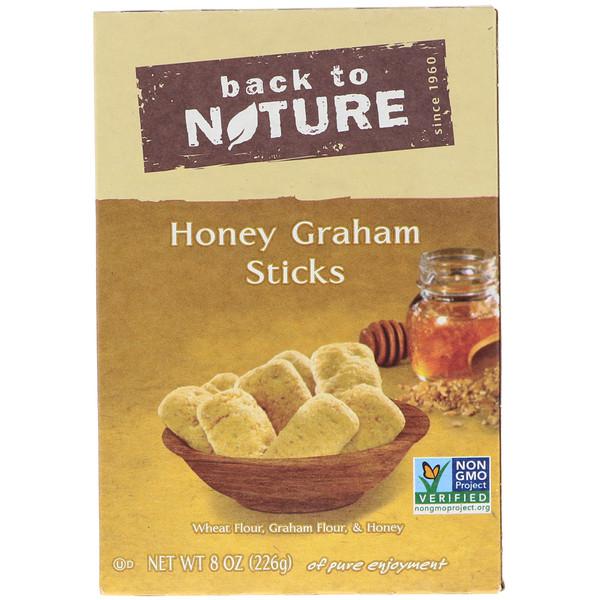 Back to Nature, Медовые палочки из муки грубого помола, 8 унций (226 г) (Discontinued Item)