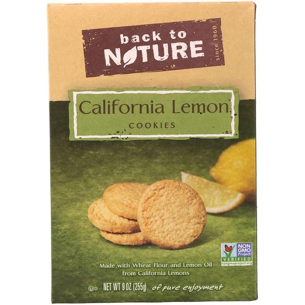 Back to Nature, Калифорнийское лимонное печенье, 9 унций (255 гр) (Discontinued Item)