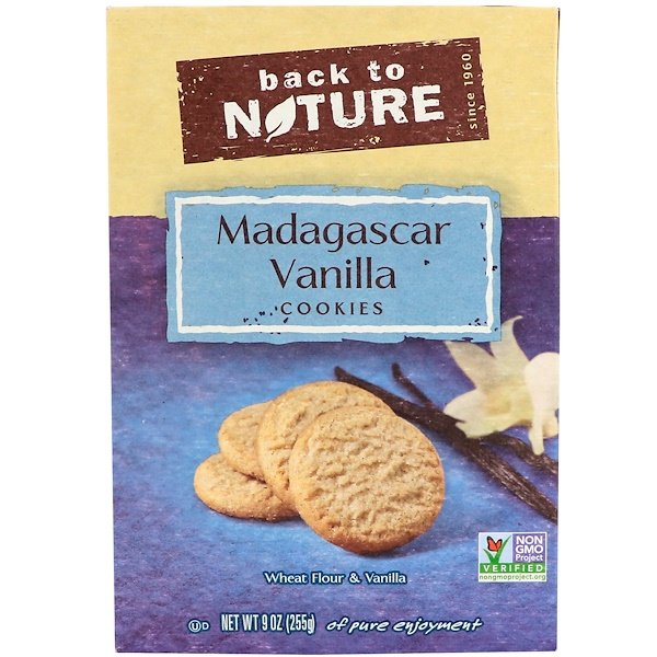 Back to Nature, Madagascar Vanilla Cookies, 9 oz (255 g) (Discontinued Item)