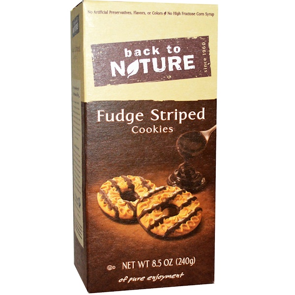 Back to Nature, Cookies, Fudge Striped, 8、5 oz (240 g)