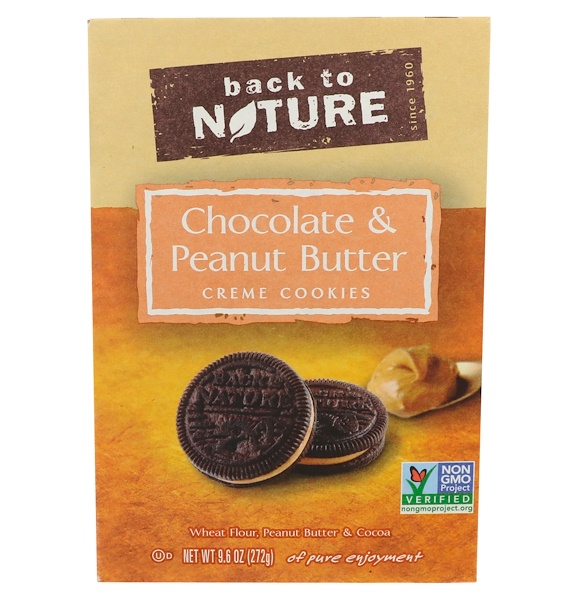 Back to Nature, Chocolate & Peanut Butter Creme Cookies, 9.6 oz (272 g) (Discontinued Item)