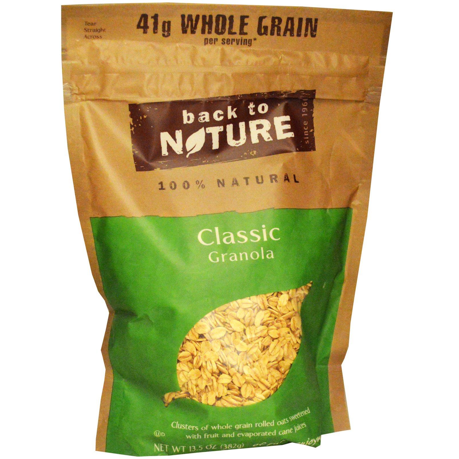 Back to Nature, 100% натуральная классическая гранола, 382 г (13,5 oz)