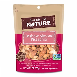 Back to Nature, Cashew Almond Pistachio Mix, 9 oz (255 g)