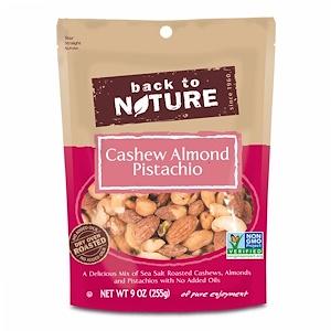 Бэк Ту Найчэ, Cashew Almond Pistachio Mix, 9 oz (255 g) отзывы покупателей