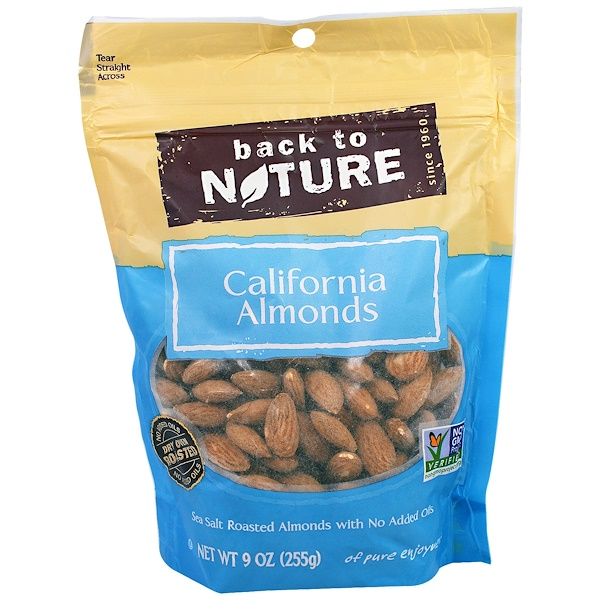 Back to Nature, California Almonds, 9 oz (255 g) (Discontinued Item)