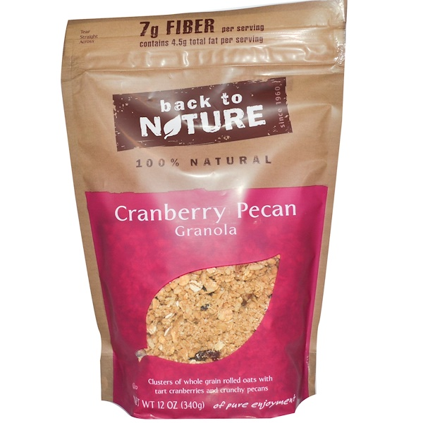 Back to Nature, Cranberry Pecan Granola, 12 oz (340 g) (Discontinued Item)