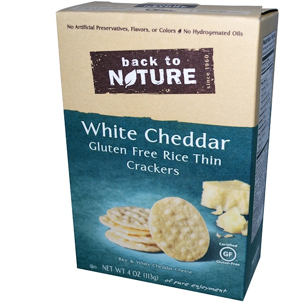 Back to Nature, Rice Thin Crackers, White Cheddar, 4 oz (113 g) (Discontinued Item)