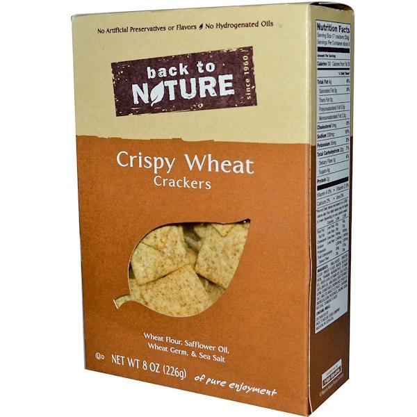 Back to Nature, Хрустящие крекеры из пшеницы 8 унции (226 г) (Discontinued Item)
