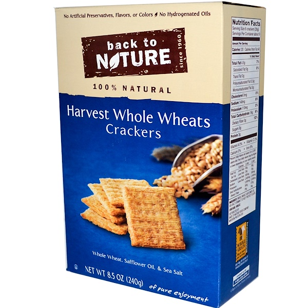 Back to Nature, Harvest Whole Wheat Crackers, 8.5 oz (240 g) (Discontinued Item)
