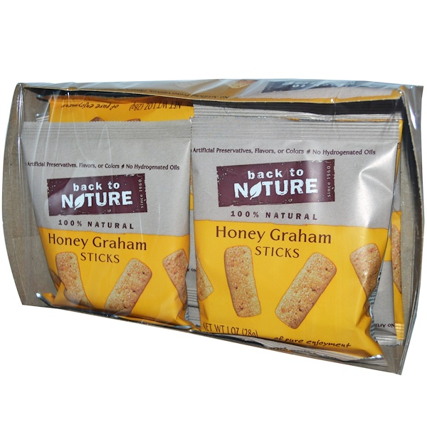 Back to Nature, Honey Graham Sticks, 8 Pouches, 1 oz (28 g) Each (Discontinued Item)
