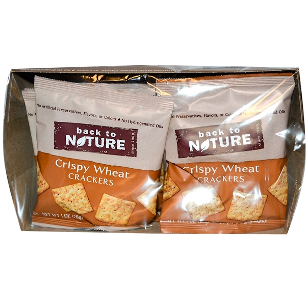 Back to Nature, Crispy Wheat Crackers, 8 Pouches, 1 oz (28 g) Each (Discontinued Item)