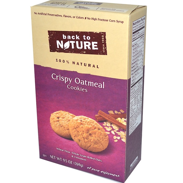 Back to Nature, Crispy Oatmeal Cookies, 9.5 oz (269 g) (Discontinued Item)
