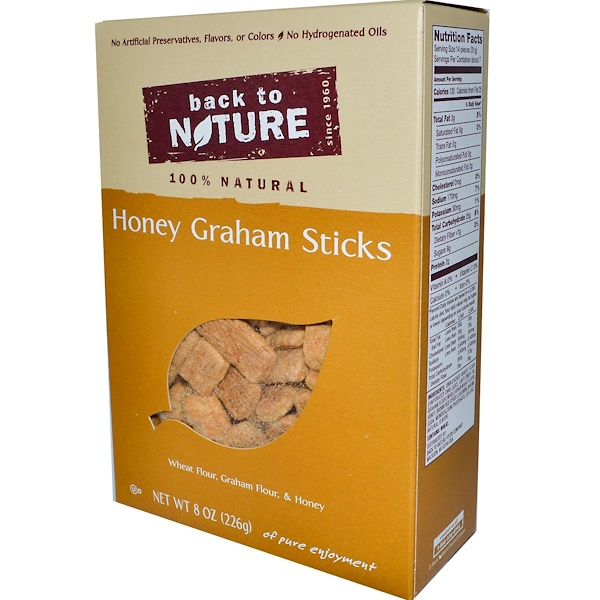 Back to Nature, Honey Graham Sticks, 8 oz (226 g) (Discontinued Item)